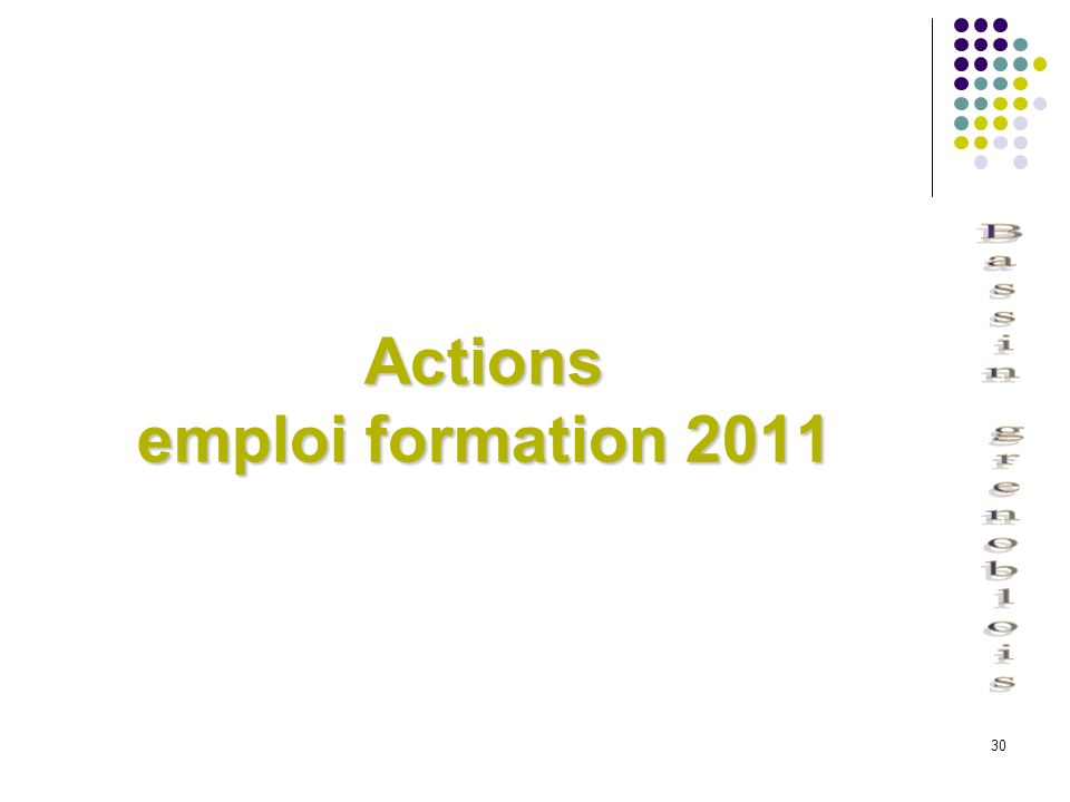 30 Actions emploi formation 2011