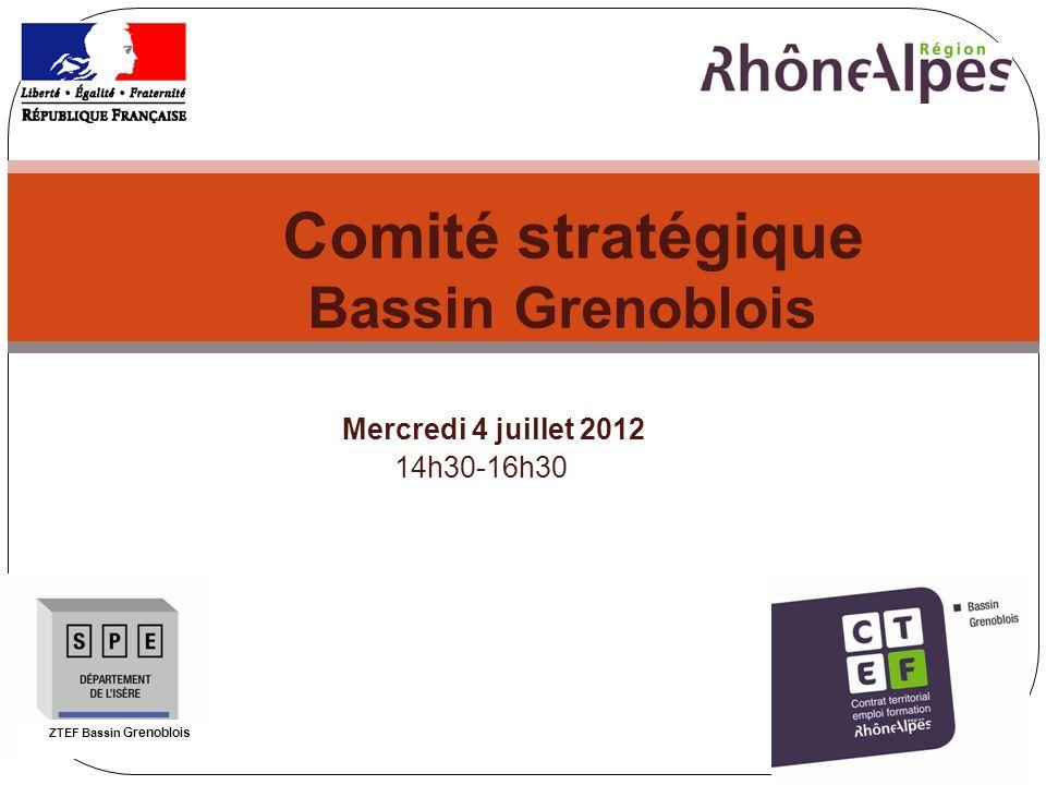 1 Comité stratégique Bassin Grenoblois Mercredi 4 juillet 2012 14h30-16h30 ZTEF Bassin Grenoblois