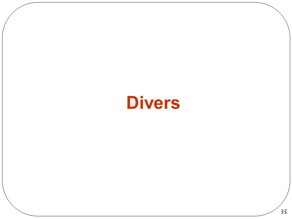 35 Divers 35