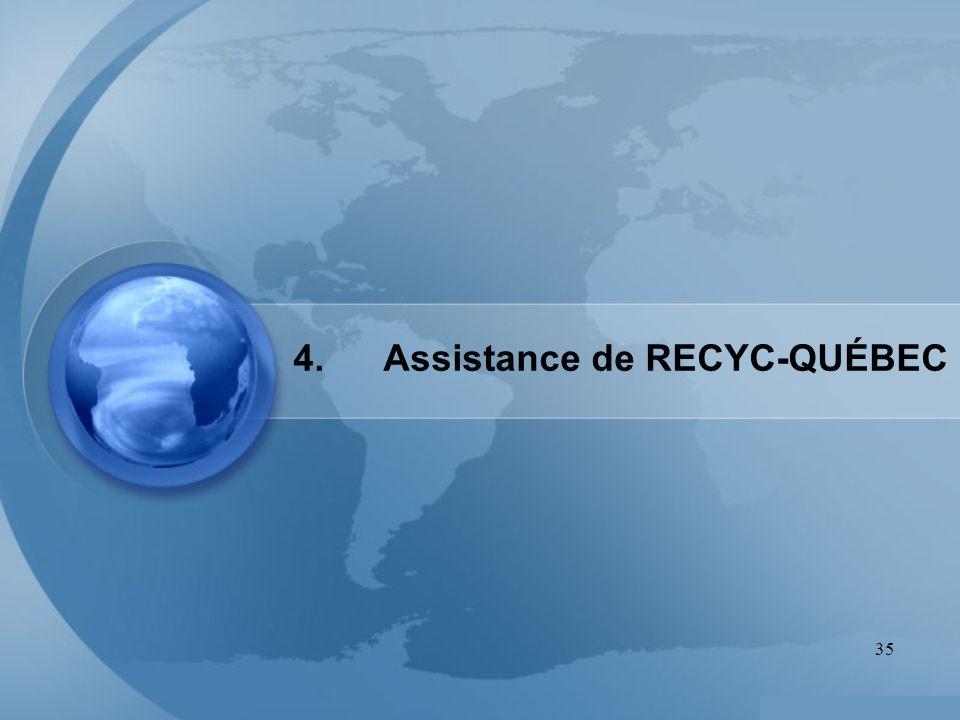 35 4. Assistance de RECYC-QUÉBEC