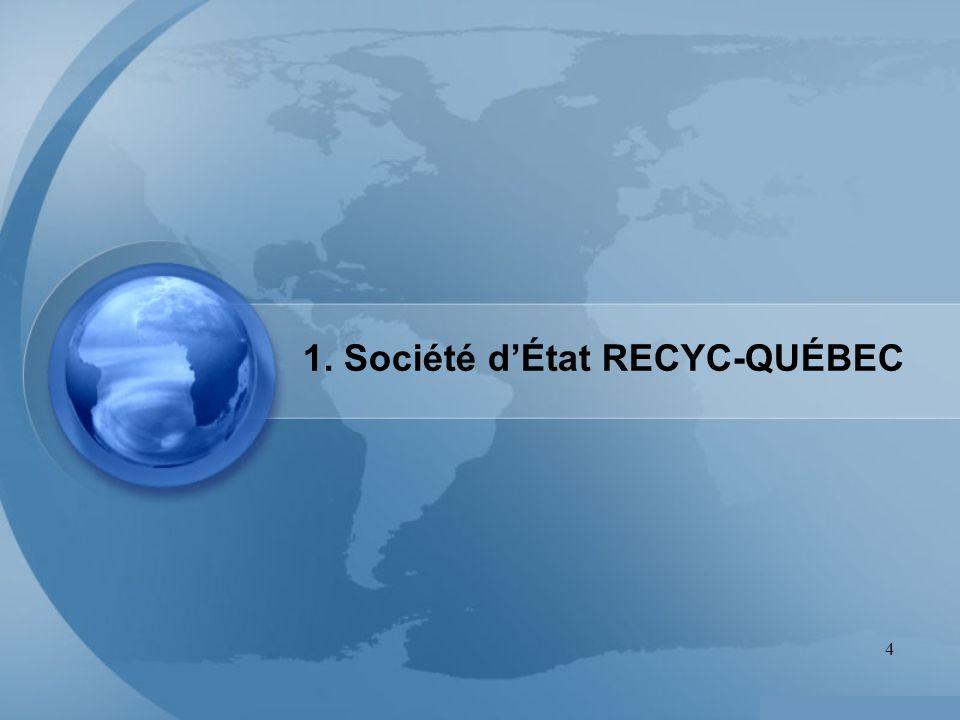 4 1. Société dÉtat RECYC-QUÉBEC