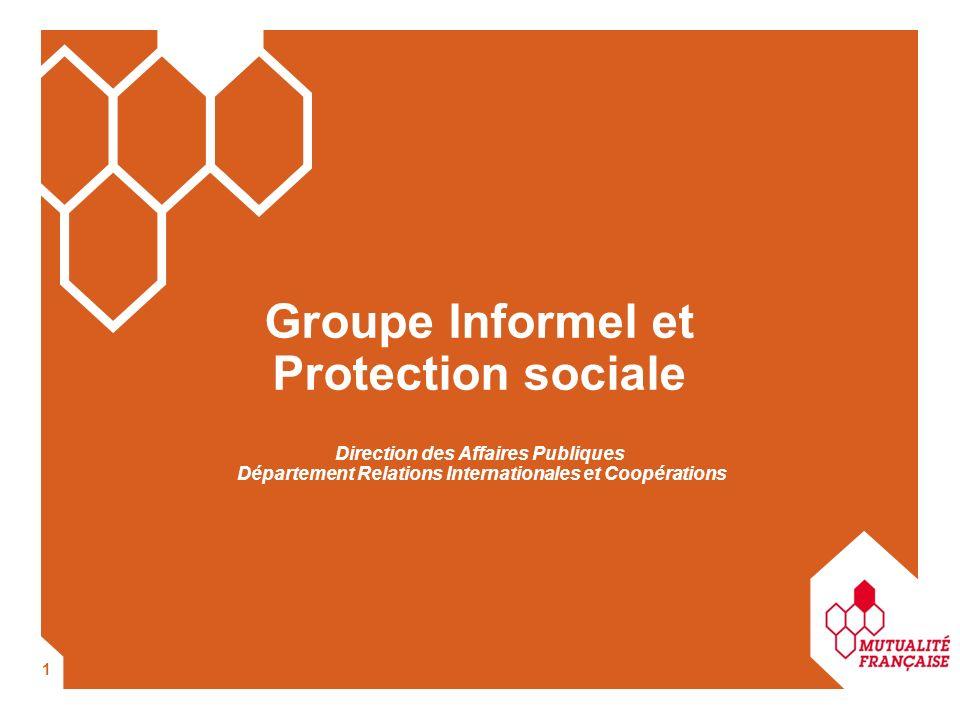 1 Direction des Affaires Publiques Département Relations Internationales et Coopérations Groupe Informel et Protection sociale