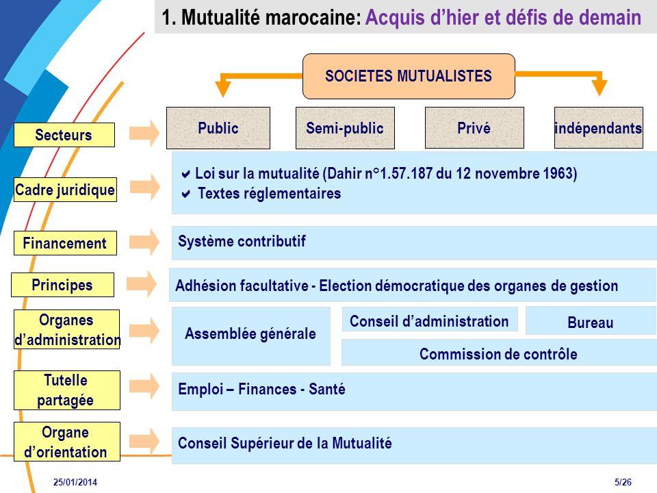 SOCIETES MUTUALISTES Système contributif Assemblée générale Conseil dadministration Conseil Supérieur de la Mutualité Emploi – Finances - Santé Secteu