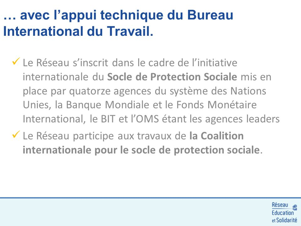 … avec lappui technique du Bureau International du Travail.