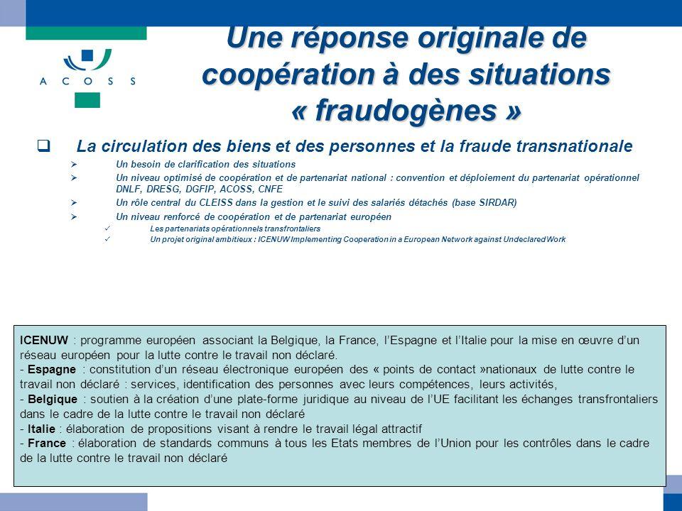Une réponse originale de coopération à des situations « fraudogènes » La circulation des biens et des personnes et la fraude transnationale Un besoin