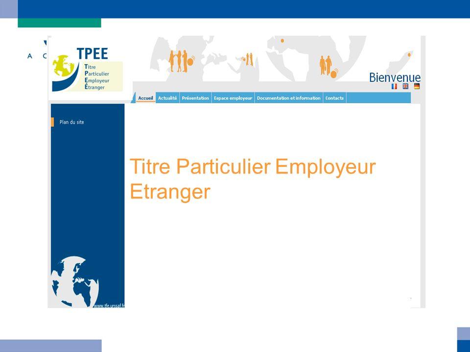 Titre Particulier Employeur Etranger
