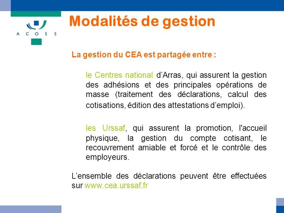 La gestion du CEA est partagée entre : le Centres national dArras, qui assurent la gestion des adhésions et des principales opérations de masse (trait