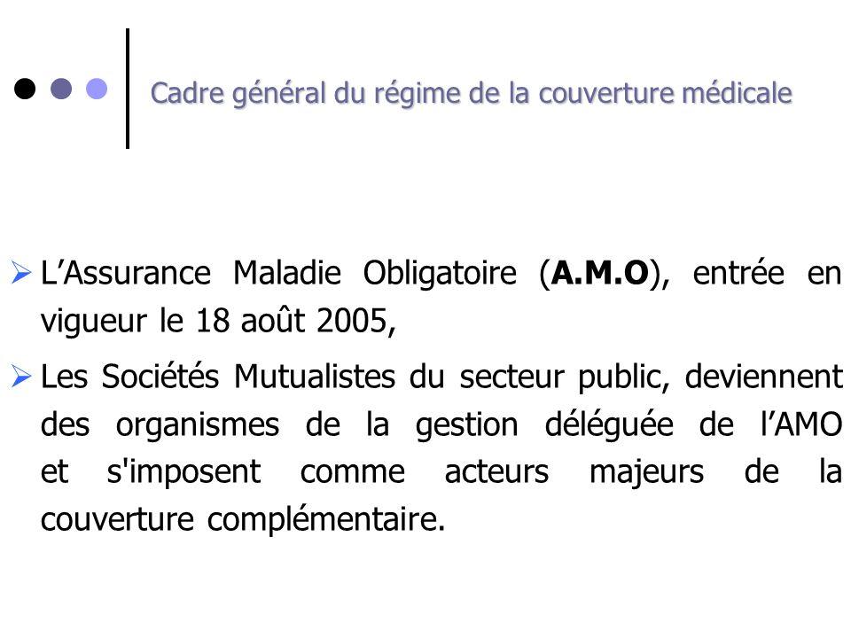 Cadre général du régime de la couverture médicale LAssurance Maladie Obligatoire (A.M.O), entrée en vigueur le 18 août 2005, Les Sociétés Mutualistes