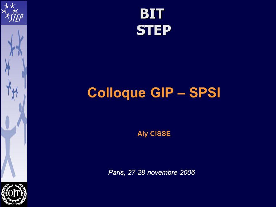BIT STEP Colloque GIP – SPSI Aly CISSE Paris, 27-28 novembre 2006