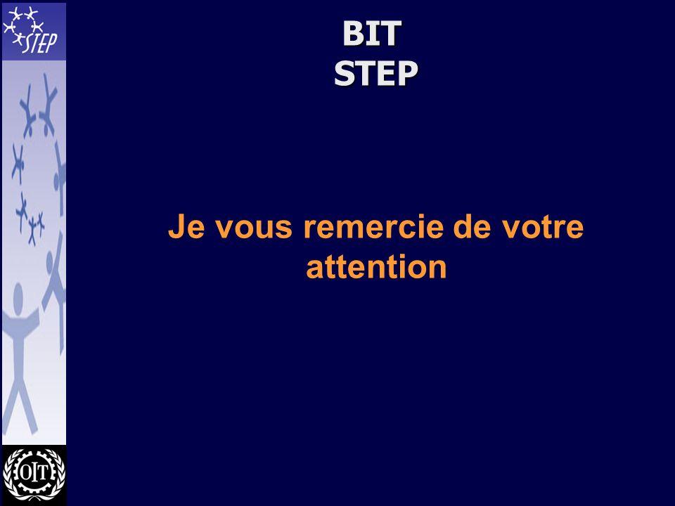 BIT STEP Je vous remercie de votre attention