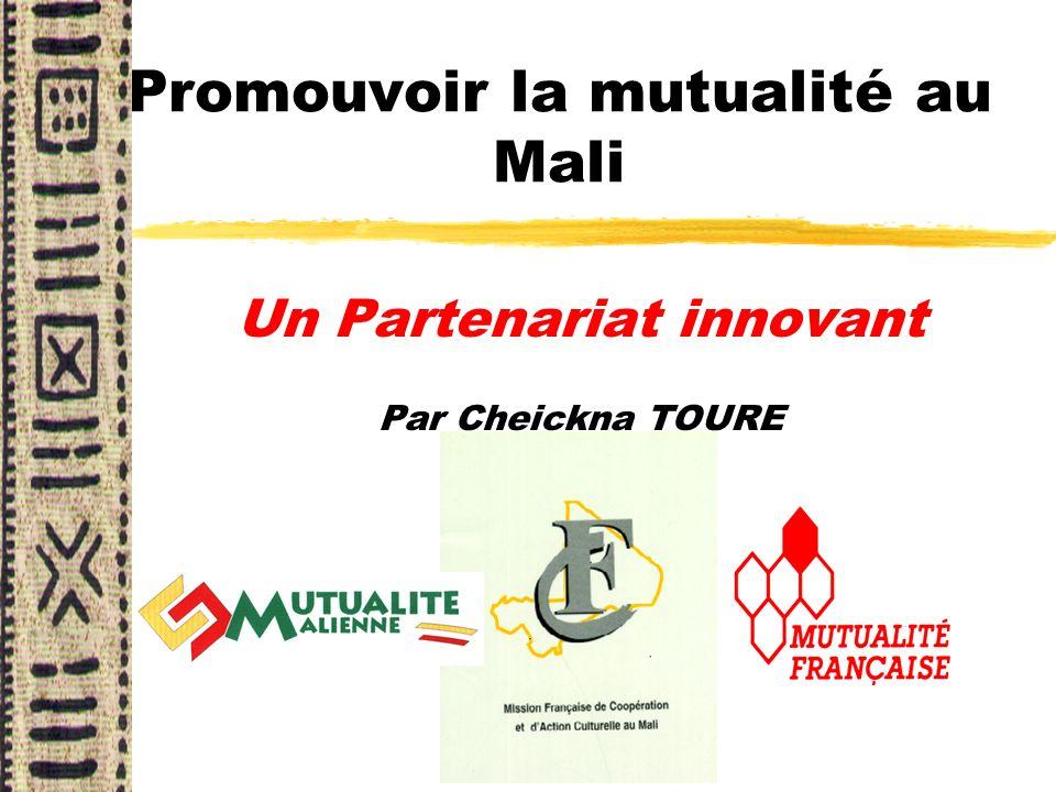 Promouvoir la mutualité au Mali Un Partenariat innovant Par Cheickna TOURE
