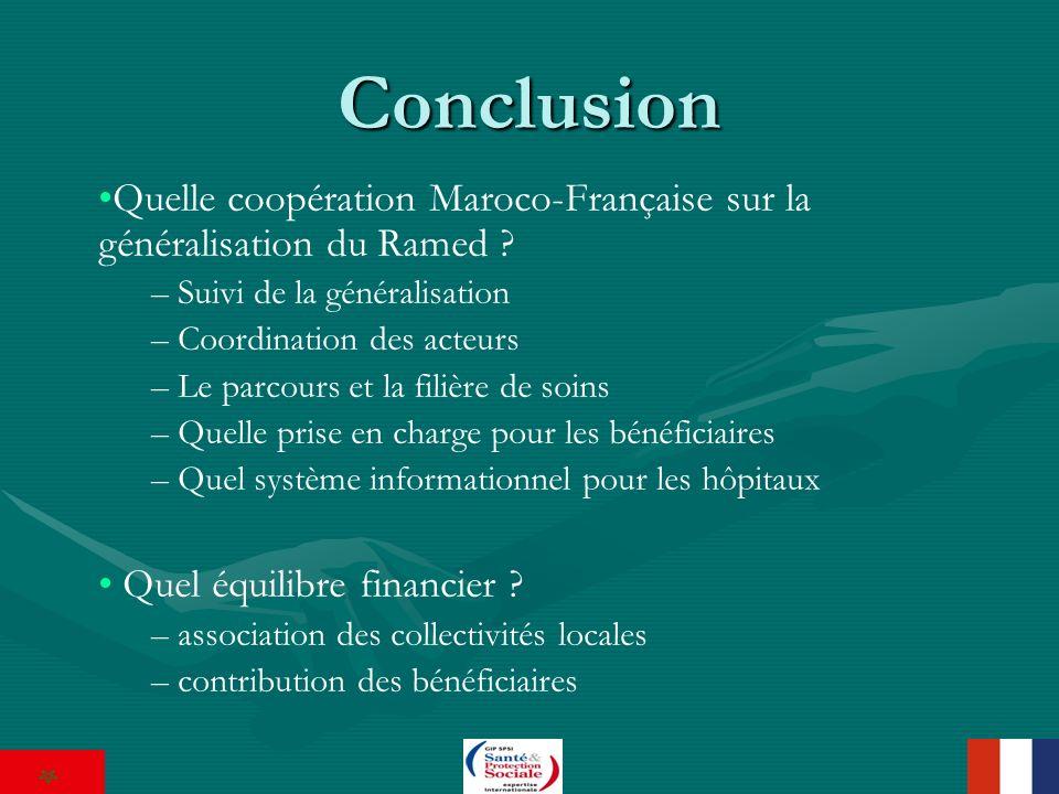 Conclusion Quelle coopération Maroco-Française sur la généralisation du Ramed .