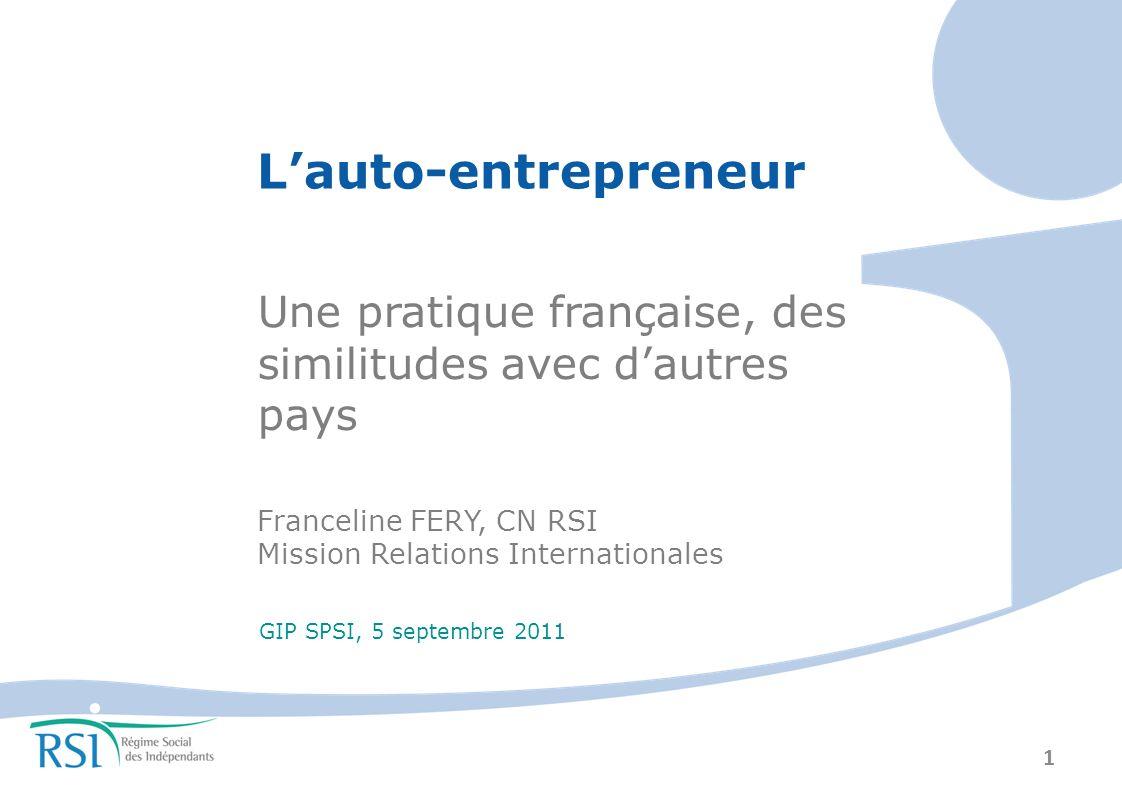2 PLAN I – Éléments de contexte II – Focus sur les prestations en France III – Bilan et appréciation IV – Auto-entrepreneurs dailleurs .