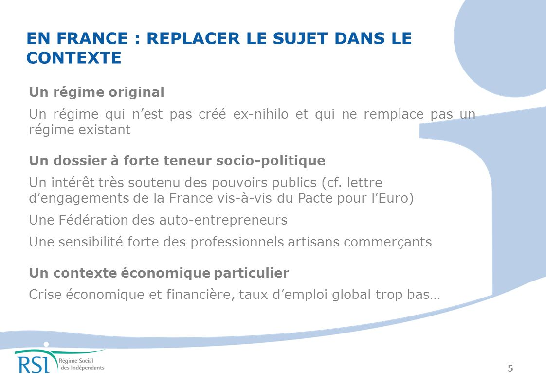 6 I – Éléments de contexte II – Focus sur les prestations en France III – Bilan et appréciation IV – Auto-entrepreneurs dailleurs .