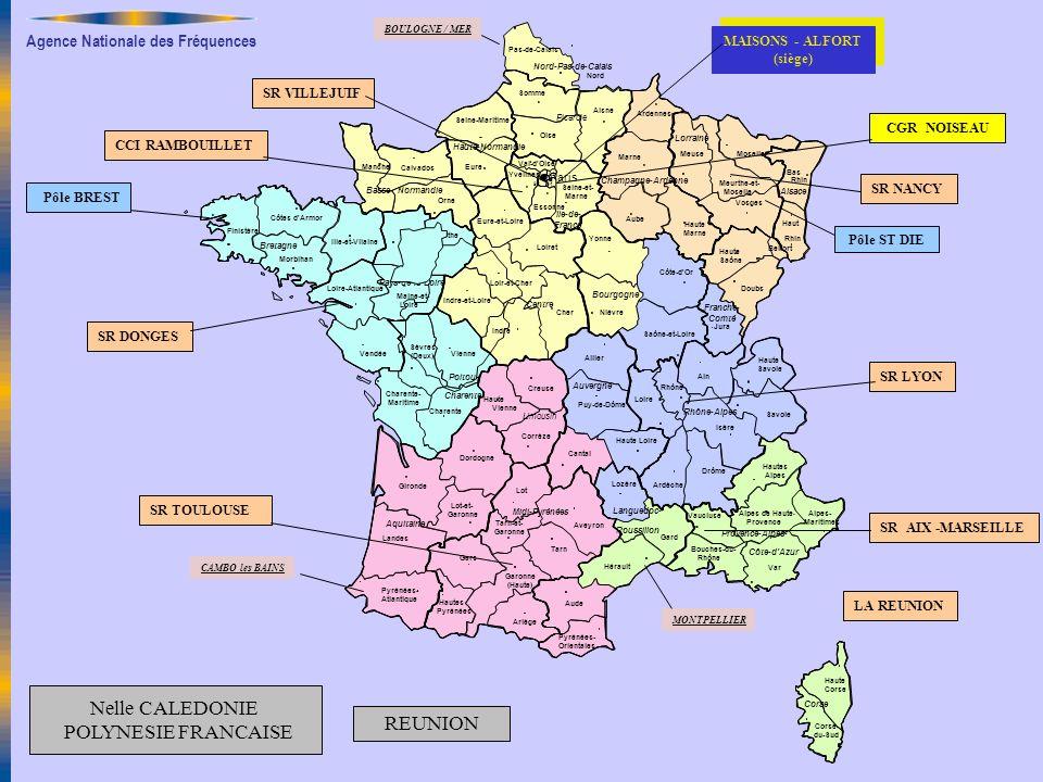 Agence Nationale des Fréquences SR LYON Paris Finistère Aveyron Lot Ariège Gers Garonne (Haute) Pyrénées Hautes Tarn Tarn-et- Garonne Pas-de-Calais No