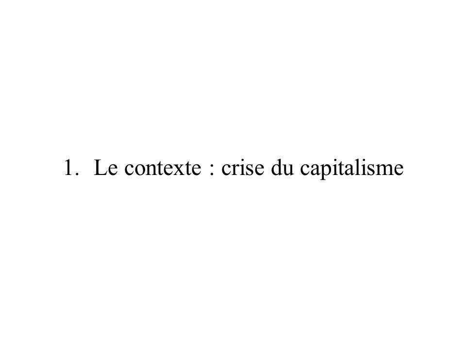 1.Le contexte : crise du capitalisme