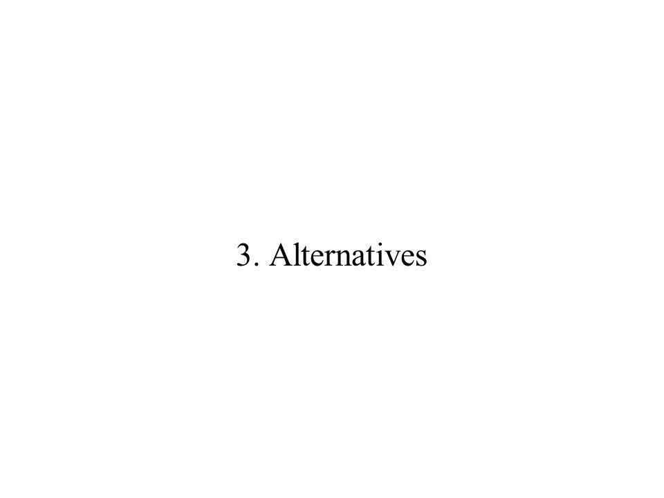 3. Alternatives