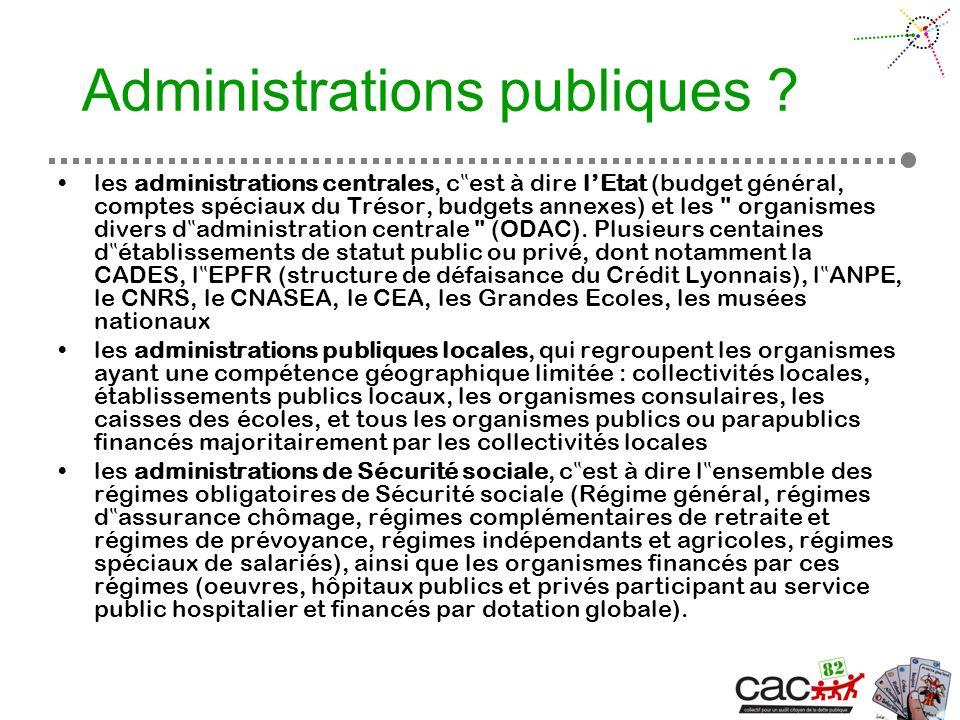 Administrations publiques .