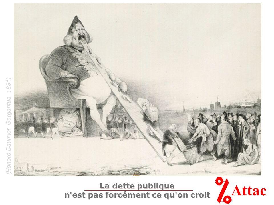 (Honoré Daumier, Gargantua, 1831) Attac La dette publique n'est pas forcément ce qu'on croit