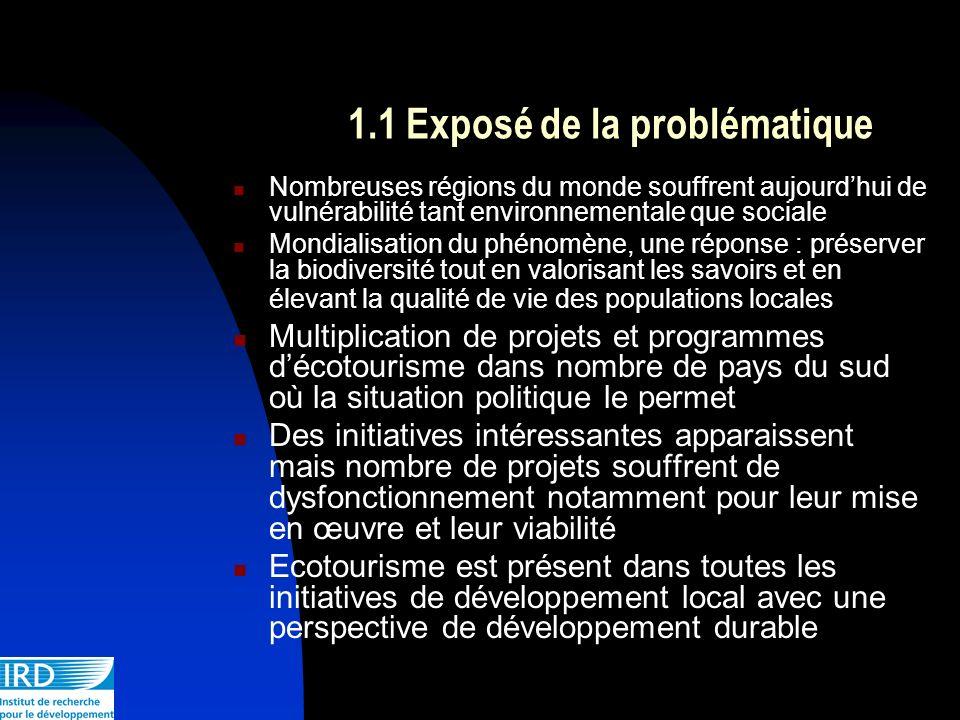 1.1 Exposé de la problématique Nombreuses régions du monde souffrent aujourdhui de vulnérabilité tant environnementale que sociale Mondialisation du p