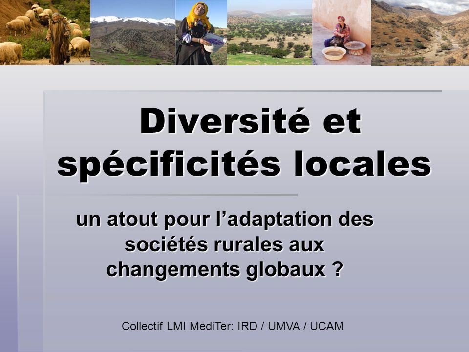 Diversité et spécificités locales Diversité et spécificités locales un atout pour ladaptation des sociétés rurales aux changements globaux ? Collectif