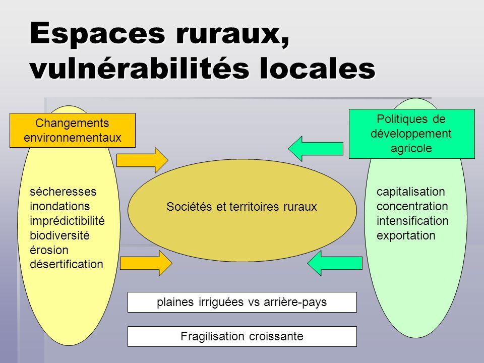 Espaces ruraux, vulnérabilités locales Sociétés et territoires ruraux Changements environnementaux Politiques de développement agricole sécheresses in