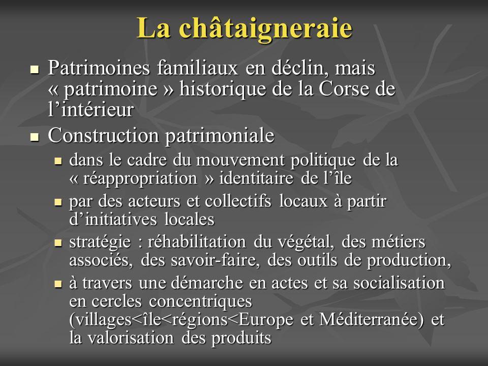 La châtaigneraie Patrimoines familiaux en déclin, mais « patrimoine » historique de la Corse de lintérieur Patrimoines familiaux en déclin, mais « pat