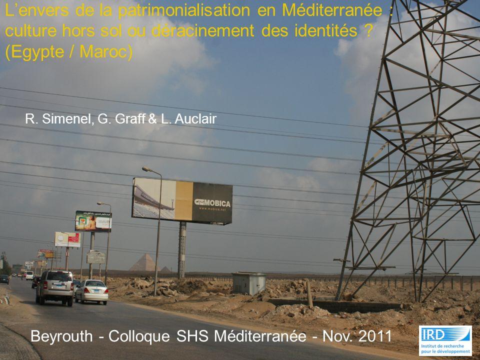 Lenvers de la patrimonialisation en Méditerranée : culture hors sol ou déracinement des identités ? (Egypte / Maroc) R. Simenel, G. Graff & L. Auclair