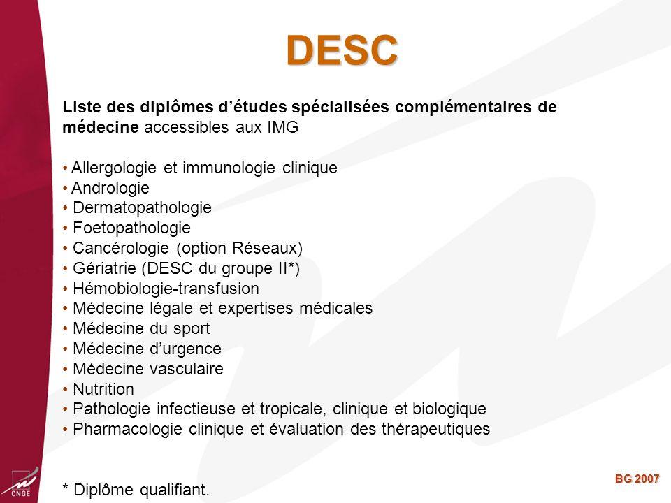 BG 2007 Clinicat Les chefs de clinique sont les futurs enseignants de la discipline Nécessité dune activité ambulatoire de soins primaires Nécessité dune activité de recherche en soins primaires