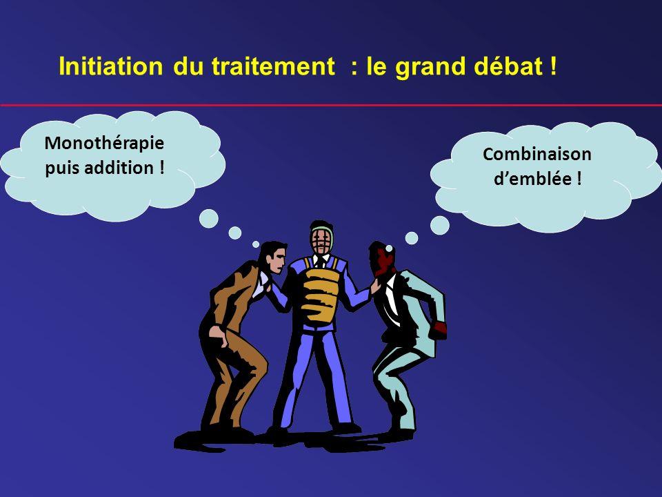 Initiation du traitement : le grand débat ! Monothérapie puis addition ! Combinaison demblée !