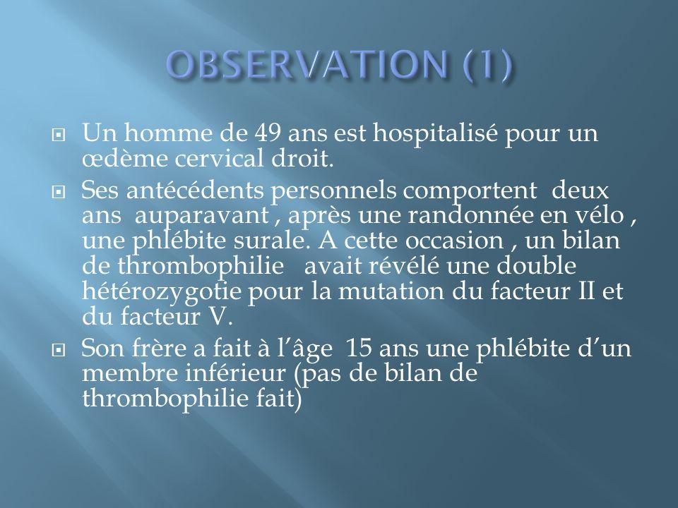 Absence de fièvre,constantes hémodynamiques normales.