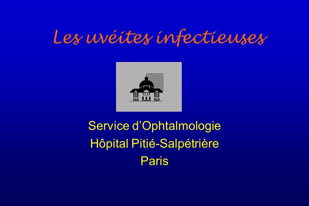 Les uvéites infectieuses Service dOphtalmologie Hôpital Pitié-Salpétrière Paris