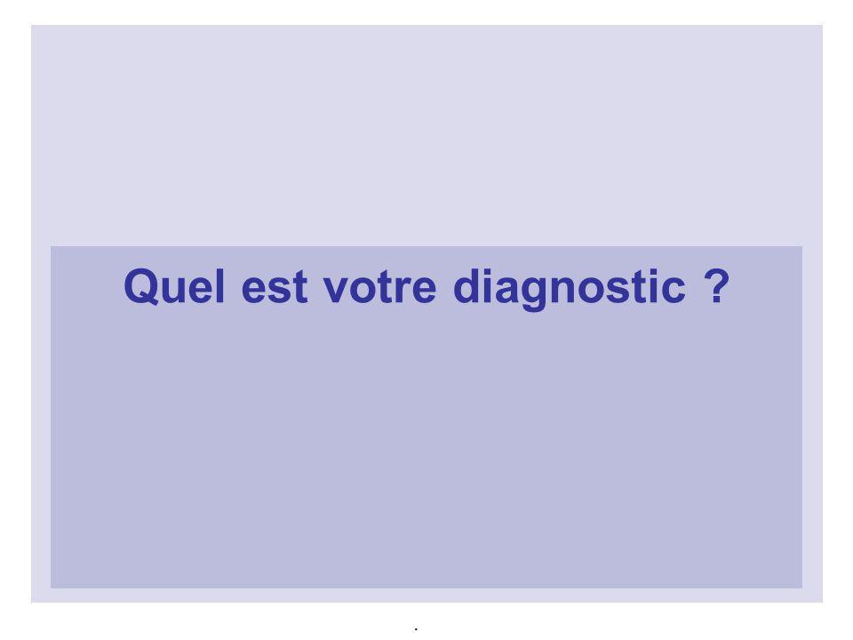 Quel est votre diagnostic ?.
