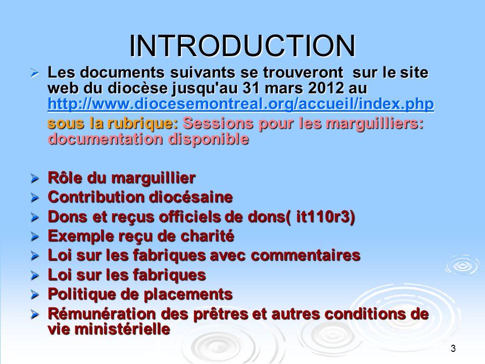 4 RAPPEL La Fabrique est une PERSONNE MORALE (anciennement CORPORATION) qui na que les pouvoirs que lui donne sa loi constituante ou sa charte.
