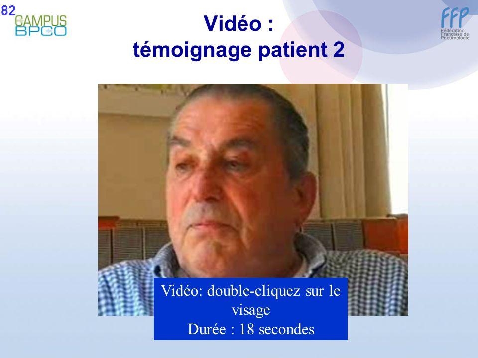 Vidéo : témoignage patient 2 Vidéo: double-cliquez sur le visage Durée : 18 secondes 82