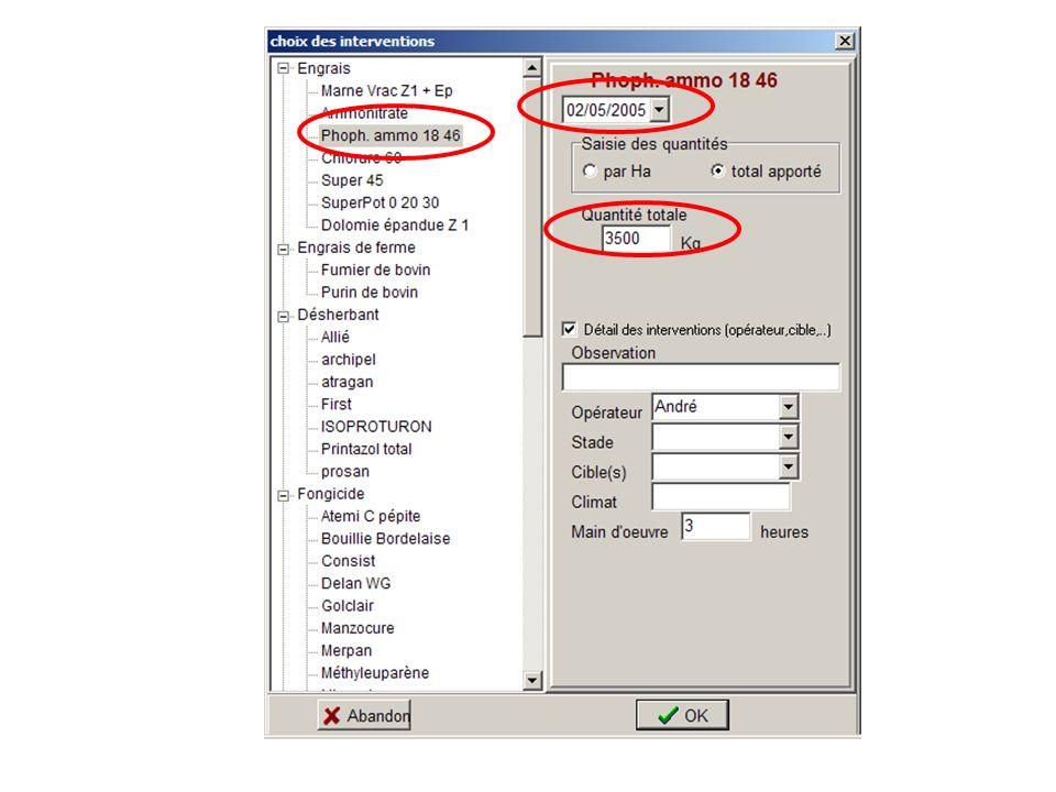 SUA2I - Planfum 11 Mai 2005 Planfum : simplifier et valoriser les enregistrements obligatoires Le technicien est plus efficace Plus le temps denregistrer Conseil plus fiable (historique, contrôles,…) Analyse de groupe