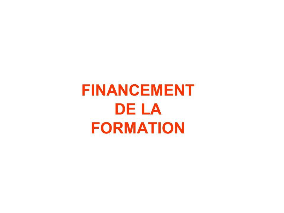 FINANCEMENT DE LA FORMATION