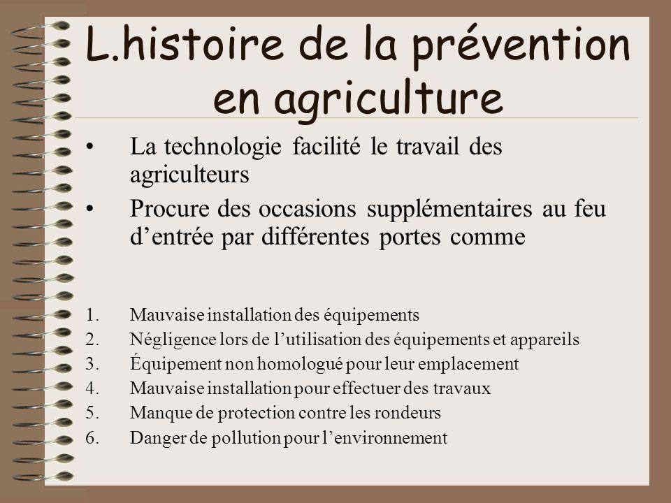 L.histoire de la prévention en agriculture La technologie facilité le travail des agriculteurs Procure des occasions supplémentaires au feu dentrée pa