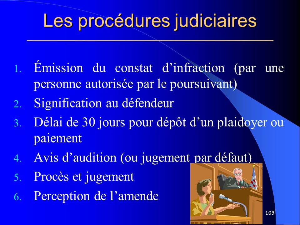 Les procédures judiciaires _____________________________________________________ 1.