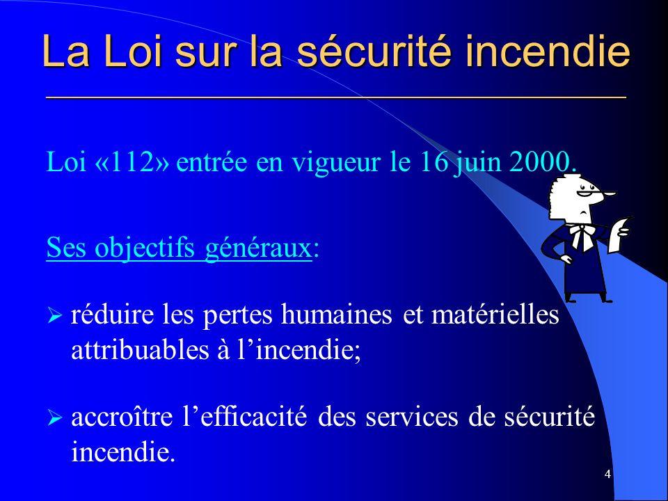 Le plan de sécurité civile ___________________________________________________________ Article 194: « Avant l entrée en vigueur du premier schéma de sécurité civile qui la lie, toute municipalité locale doit s assurer que sont en vigueur¸ sur son territoire, et consignés dans un plan de sécurité civile, des procédures d alerte et de mobilisation ainsi que des moyens de secours minimaux pour protéger la sécurité des personnes et des biens en cas de sinistre que peut déterminer le ministre par règlement.» 55