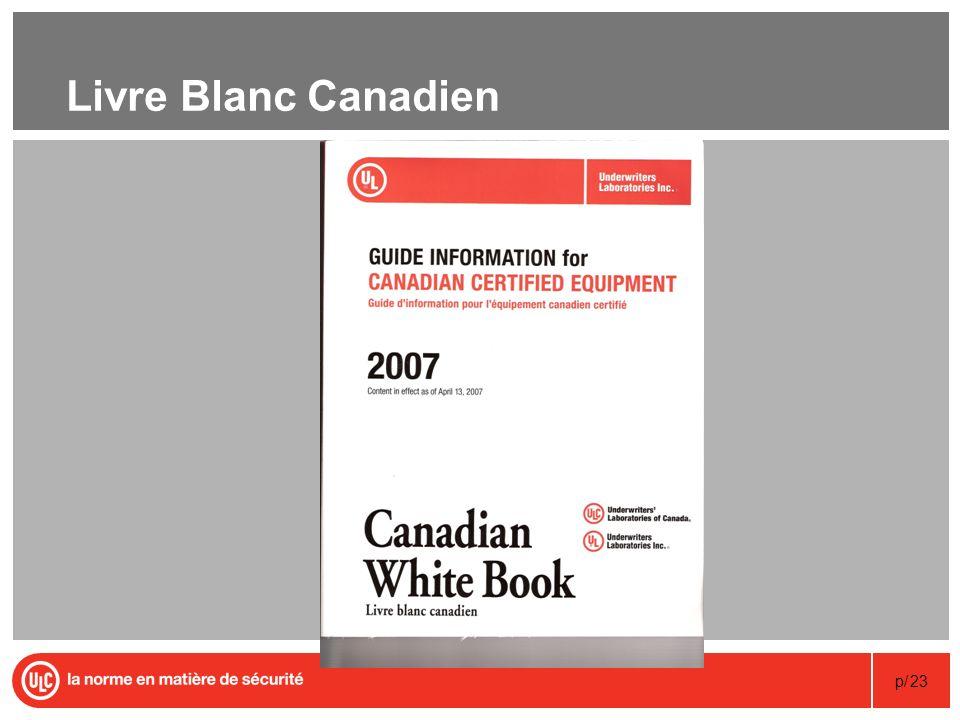 p/23 Livre Blanc Canadien