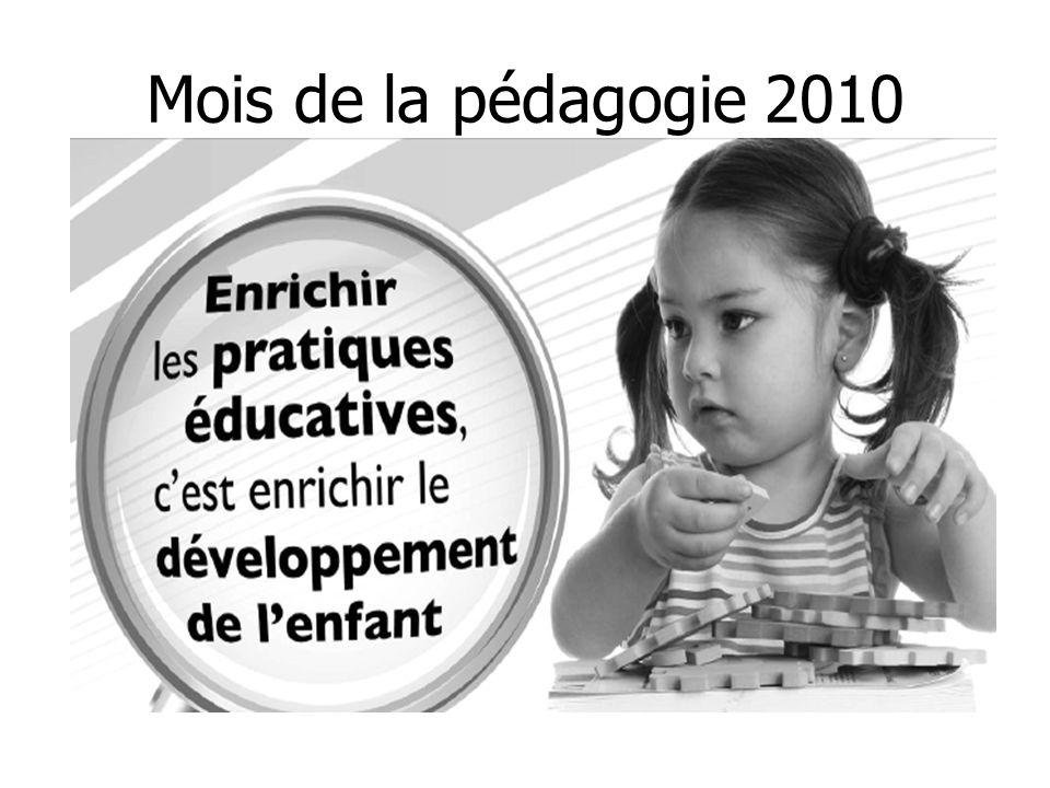 Mois de la pédagogie 2010