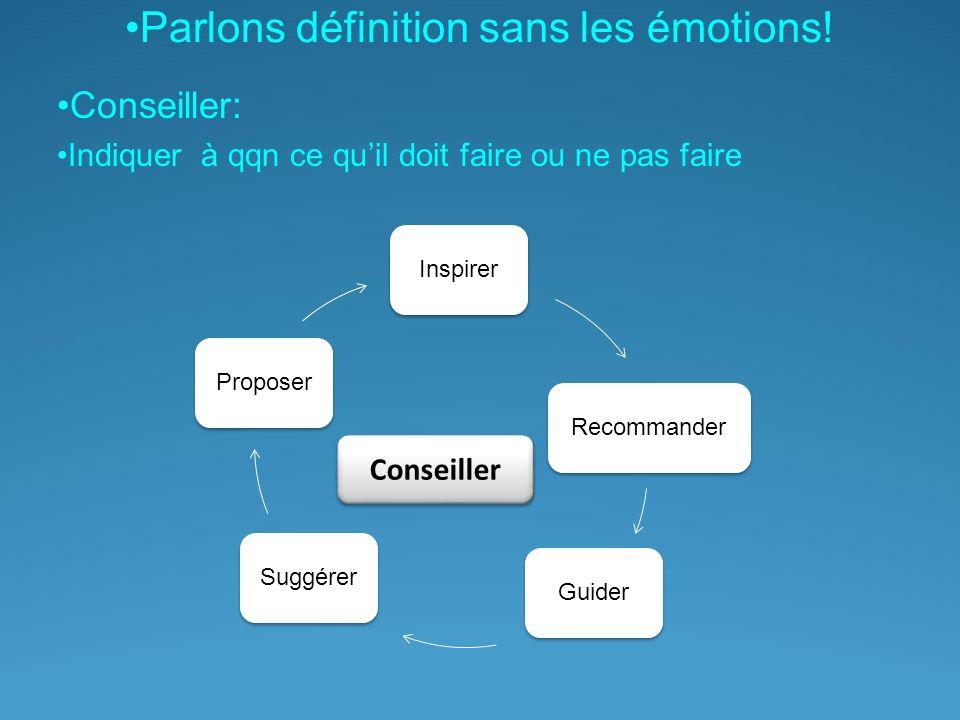 Parlons définition sans les émotions.