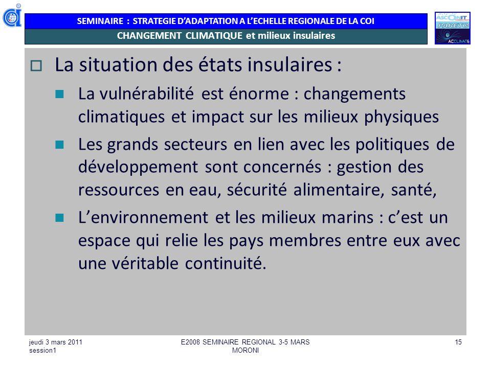 Changements climatiques & impacts sur lenvironnement physique