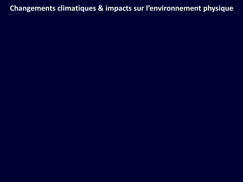Société humaine + Direct - Changements climatiques & impacts sur lenvironnement physique
