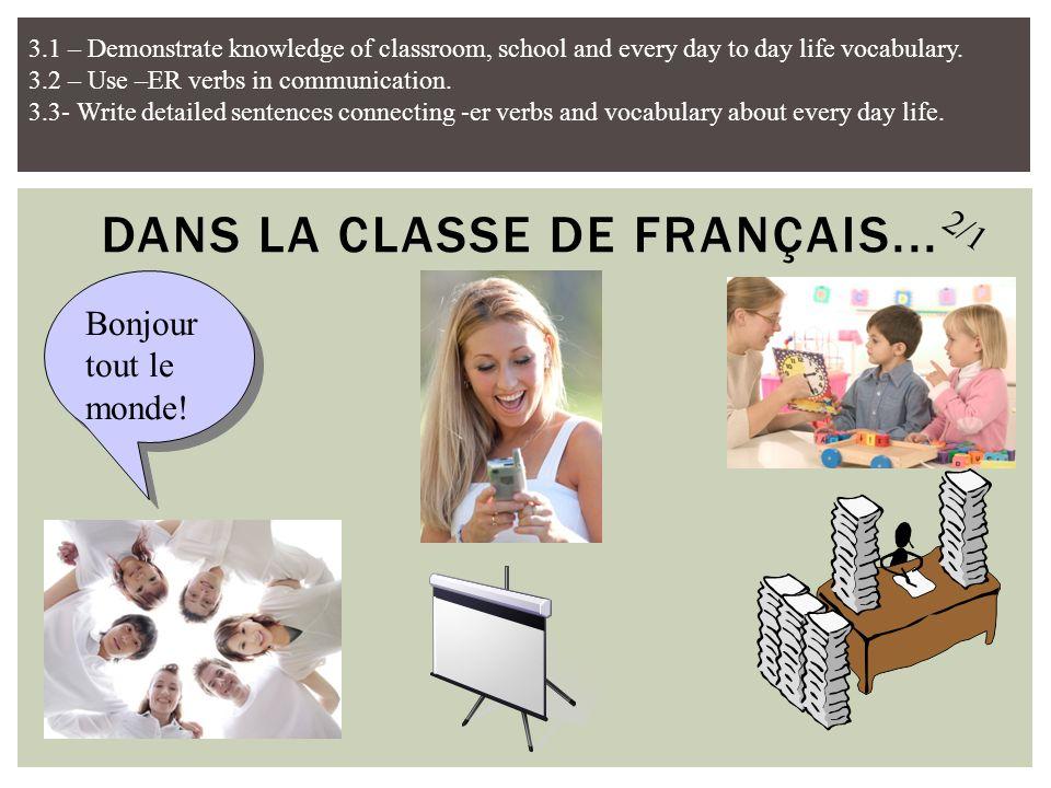 Je range toujours mon portable. Jécoute toujours la prof. Jétudie les devoirs de temps en temps. Je parle en français. Je regarde l'écran. Jarrive à l