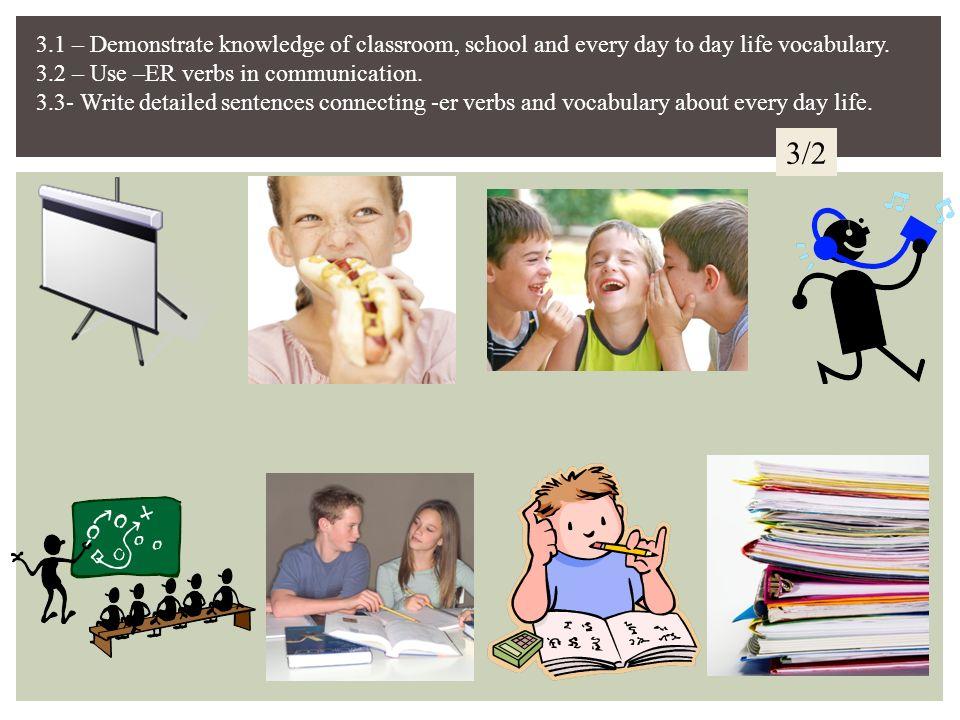 Corrigez les devoirs Jetravaillezmon cahier. Vousécoutezla chanson