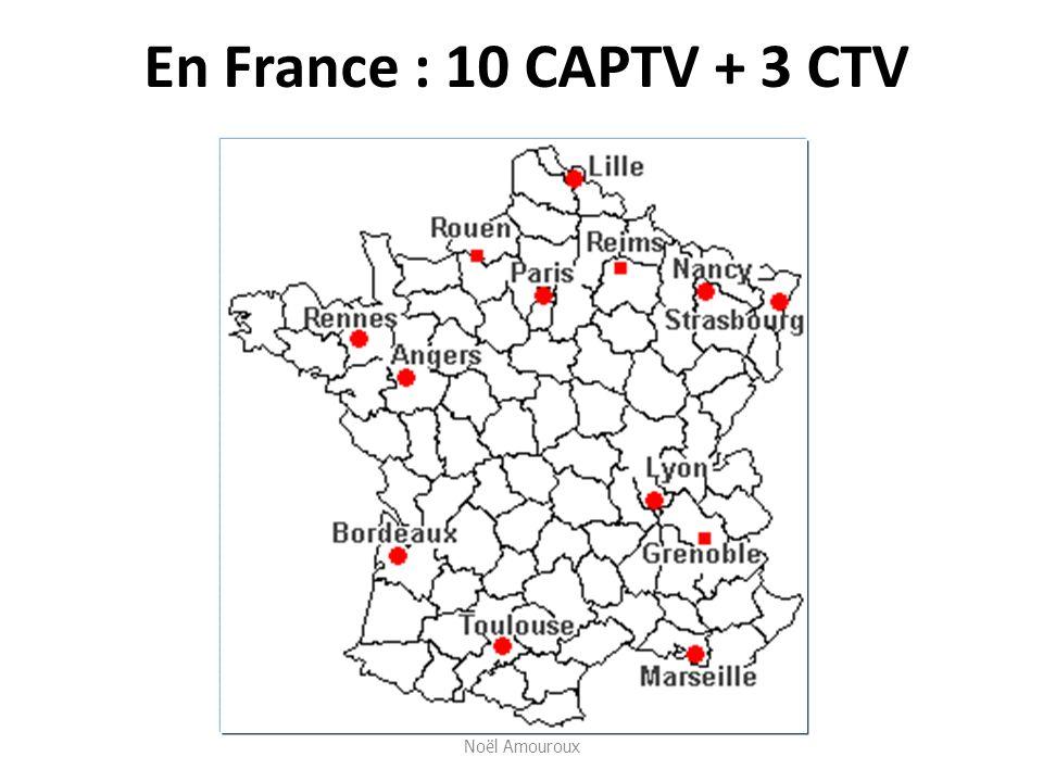 En France : 10 CAPTV + 3 CTV Noël Amouroux