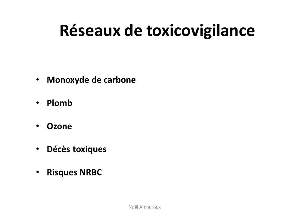 Réseaux de toxicovigilance Monoxyde de carbone Plomb Ozone Décès toxiques Risques NRBC Noël Amouroux