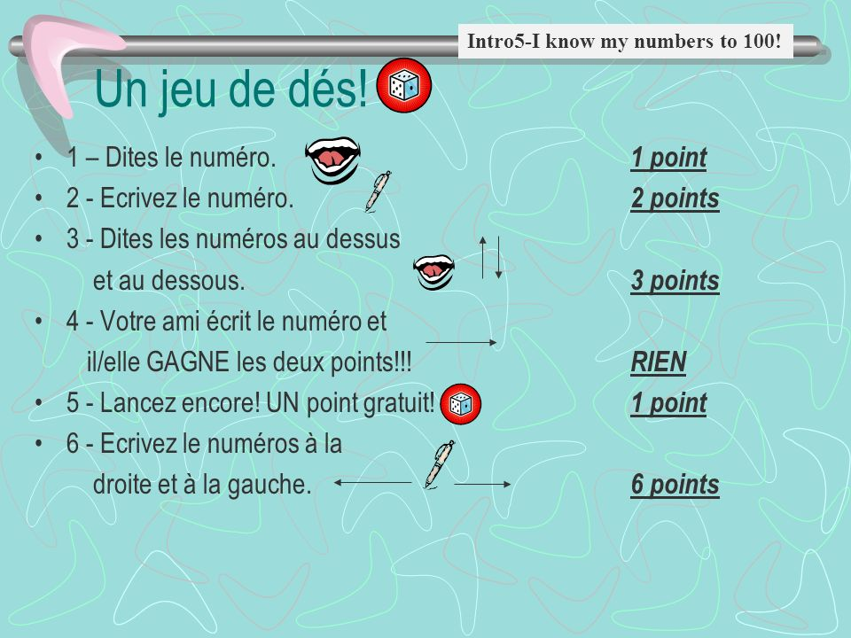 Intro 9 - Ask for and tell time. Intro 10 – Ask and Answer Questions Entrez –Dites les numéros sur votre carte à votre partenaire! Pratiquez: –CARTE d